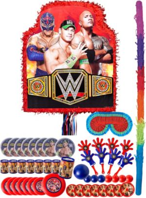 Red WWE Pinata Kit with Favors