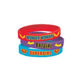 DC Super Hero Girls Wristbands 4ct