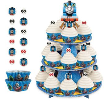 Deluxe Thomas the Tank Engine Cupcake Kit for 24