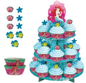 Deluxe Little Mermaid Cupcake Kit for 24