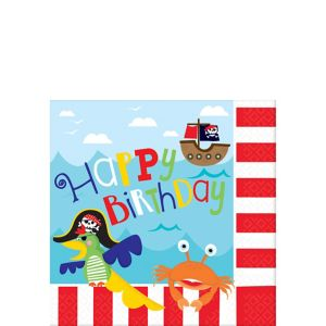 Little Pirate Beverage Napkins 16ct