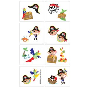 Little Pirate Tattoos 1 Sheet