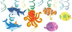 Under the Sea Birthday Swirl Decorations 12ct