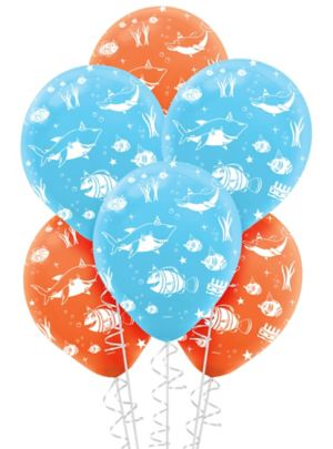Under the Sea Birthday Balloons 6ct