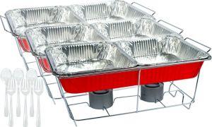 Red Chafing Dish Buffet Set 24pc