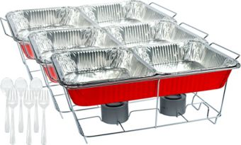 Red Chafing Dish Buffet Set 24pc