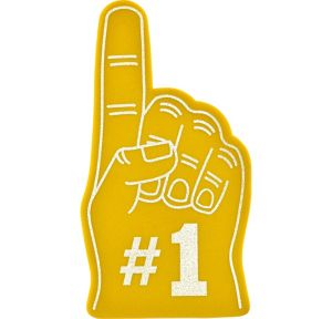 Yellow #1 Foam Finger