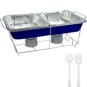Royal Blue Chafing Dish Buffet Set 8pc