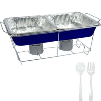Royal Blue Chafing Dish Buffet Set 8pc