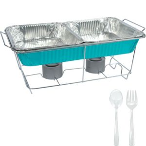 Caribbean Blue Chafing Dish Buffet Set 8pc