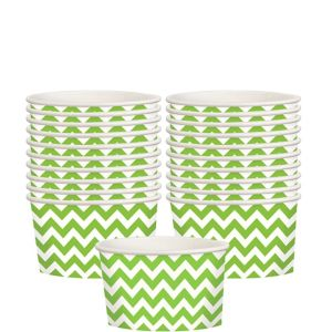 Kiwi Green Chevron Paper Treat Cups 20ct