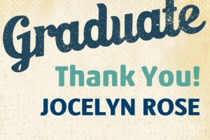 Custom Retro Graduation Thank You Note