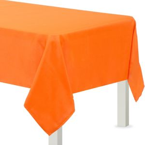 Orange Fabric Tablecloth