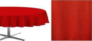Apple Red Round Fabric Tablecloth