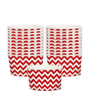 Red Chevron Paper Treat Cups 20ct