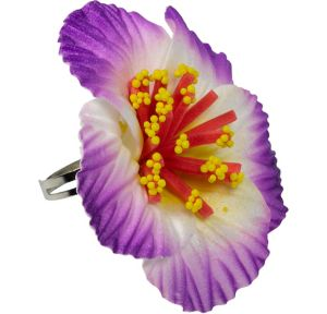 Purple Hibiscus Ring