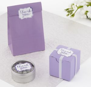 Lilac Scroll Thank You Sticker Seals 50ct