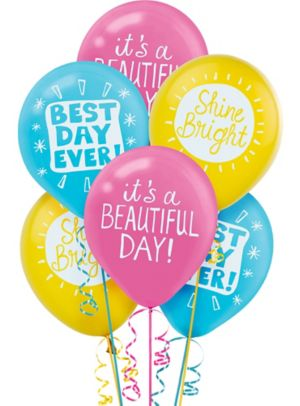 Happy Messages Balloons 6ct