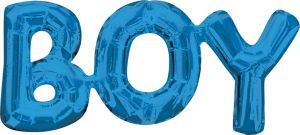 Air-Filled Blue Boy Letter Balloon Banner