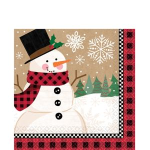 Winter Wonder Snowman Lunch Napkins 16ct