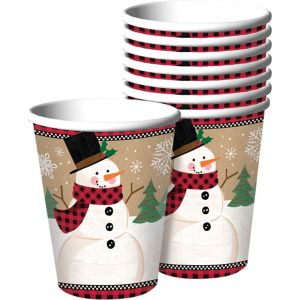 Winter Wonder Snowman Cups 8ct