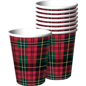 Holiday Plaid Cups 50ct