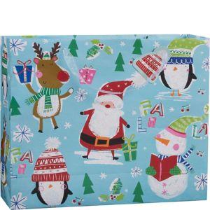 Large Glitter Jolly Season Christmas Gift Bag