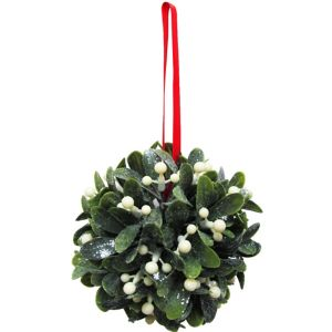 Hanging Glitter Mistletoe Ball