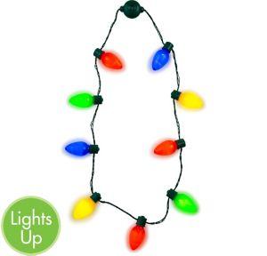 Light-Up Christmas Light Necklace