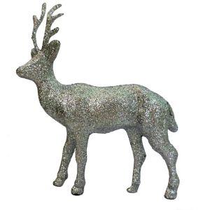 Glitter Silver Reindeer