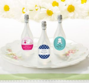 Personalized Bubbles (Printed Label) (Baby Blue, Swirl)