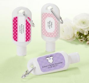 Personalized Baby Shower Sunscreen Favors (Printed Label) (Purple, Pram)