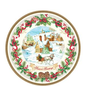 Holiday Magic Dessert Plates 18ct