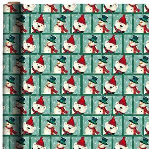 Polar Bear & Snowman Christmas Gift Wrap