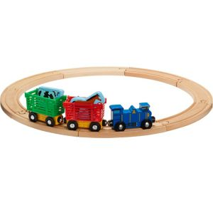 Farm Animal Train Playset 13pc