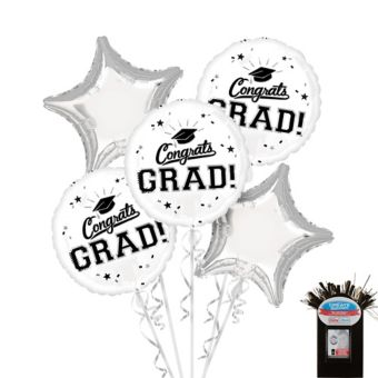 White Graduation Balloon Kit