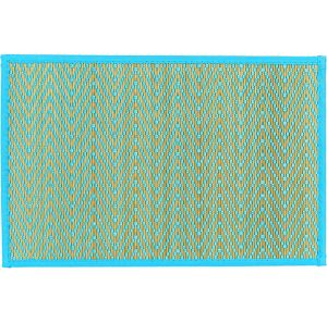 Caribbean Blue Chevron Bamboo Placemat