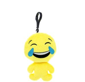 Clip-On Laughing Crying Smiley Plush