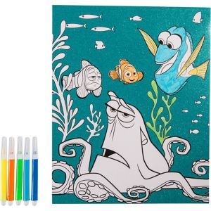 Glitter Finding Dory Coloring Sheet with Markers