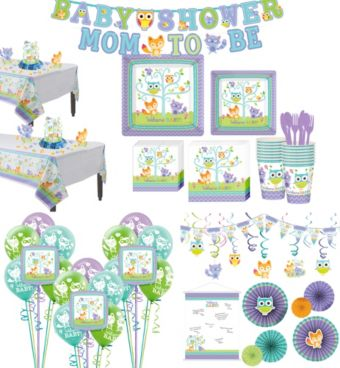 Welcome Baby Woodland Premium Shower Kit for 32 Guests