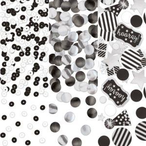 Black & White Birthday Confetti