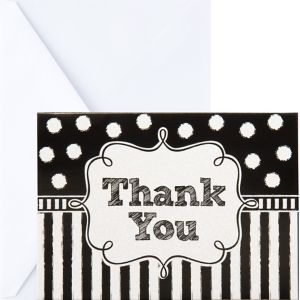 Glitter Chalkboard Thank You Notes 8ct