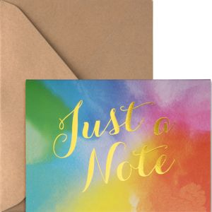 Metallic Rainbow Watercolor Note Cards 20ct