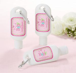 Personalized Baby Shower Sunscreen Wedding Favors (Printed Label) (Welcome Girl)