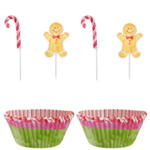 Gingerbread Man Cupcake Decorating Kit for 24
