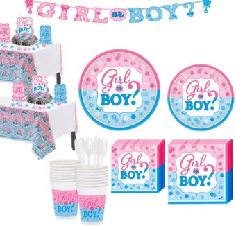 Girl or Boy Gender Reveal Party Kit 32 Guests