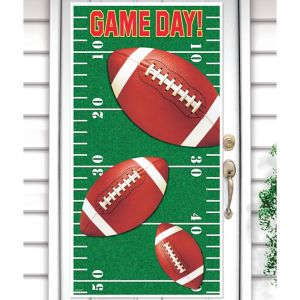 Football Field Door Cover