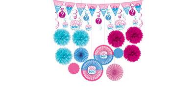 Girl or Boy Gender Reveal Decorations Shower Kit