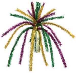 Tinsel Fireworks Mardi Gras Chandelier