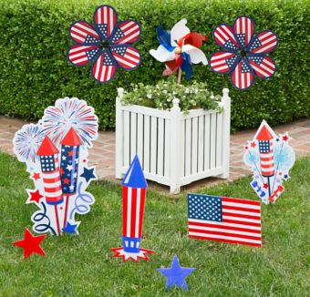 Patriotic Pinwheel Planter Decorating Kit
